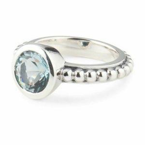 Stephen Dweck Sterling Silver/Blue Quartz Ring